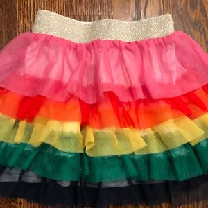 Hanna Andersson Bottoms - Hanna Andersson Rainbow Ruffle Tulle Skirt